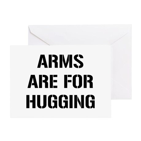 Arm Hugging Greeting Card