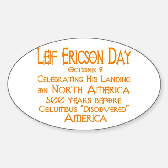 Leif Ericson Day Oval Decal