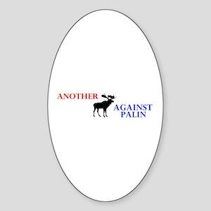 Moose Against Palin Oval Sticker