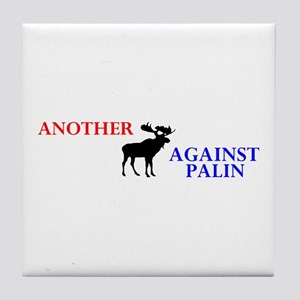Moose Against Palin Tile Coaster