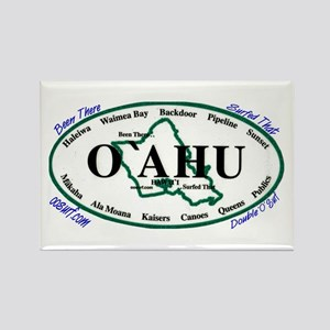O'ahu Rectangle Magnet