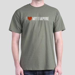 I Love My Umpire Dark T-Shirt