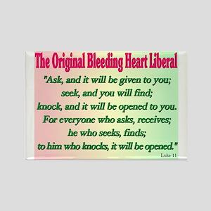 Original Bleeding Heart Liberal Rectangle Magnet