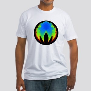 'BubbleBrot Fractal' Fitted T-Shirt