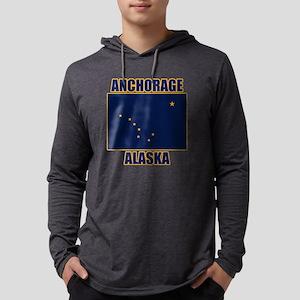 Anchorage Alaska Mens Hooded Shirt