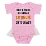 Baltimore Baseball Baby Tutu Bodysuit