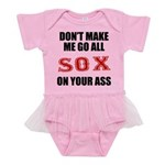 Boston Baseball Baby Tutu Bodysuit