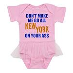 New York Baseball Baby Tutu Bodysuit