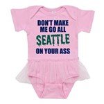 Seattle Baseball Baby Tutu Bodysuit