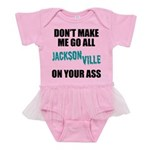 Jacksonville Football Baby Tutu Bodysuit