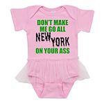 New York Football Baby Tutu Bodysuit