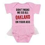 Oakland Football Baby Tutu Bodysuit