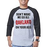Oakland Football Mens Baseball Tee