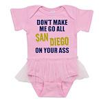 San Diego Football Baby Tutu Bodysuit