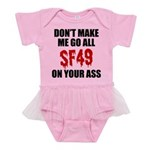 San Francisco Football Baby Tutu Bodysuit
