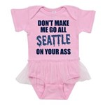 Seattle Football Baby Tutu Bodysuit