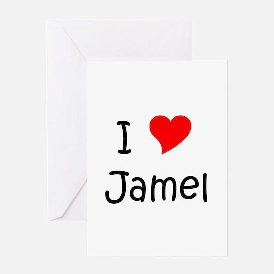 Cute I love jamel Greeting Card