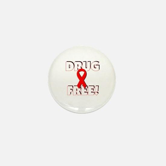 Drug Free Ribbon Mini Button