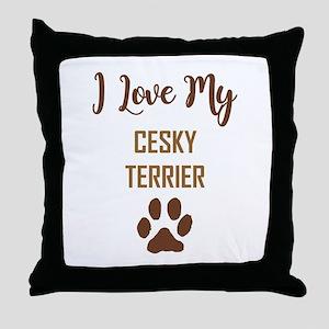 I LOVE MY DOG! Throw Pillow
