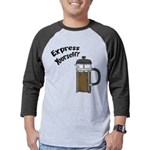 FIN-express-yourself-1 Mens Baseball Tee