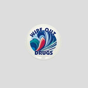 Wipe Out Drugs Mini Button