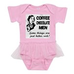 FIN-coffee-chocolate-men Baby Tutu Bodysuit