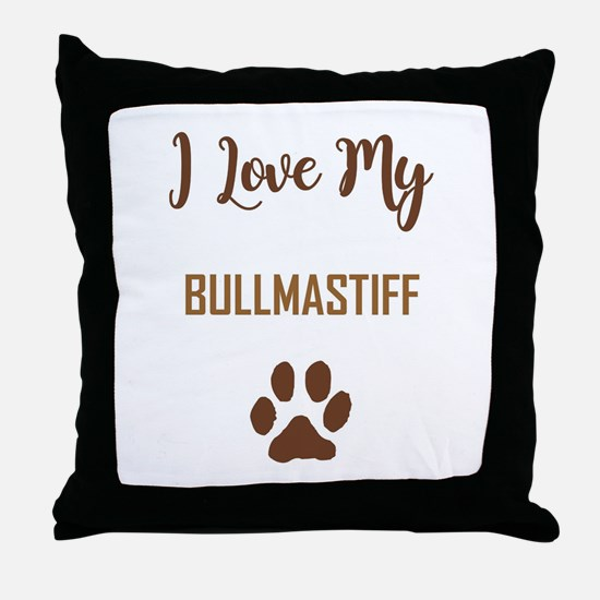 I LOVE MY DOG! Throw Pillow