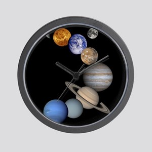 Our Solar System planets Wall Clock