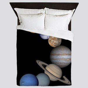 Our Solar System planets Queen Duvet
