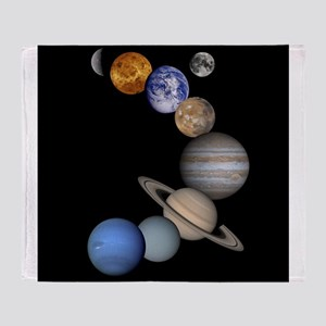 Our Solar System planets Throw Blanket