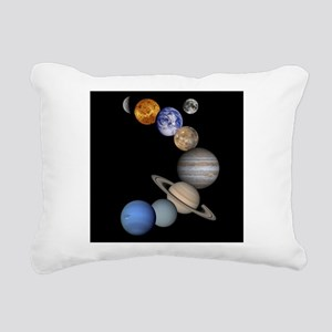 Our Solar System planets Rectangular Canvas Pillow
