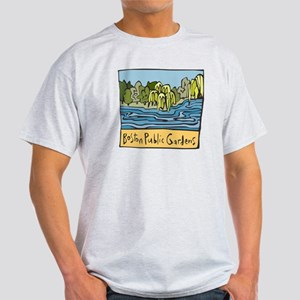 Boston Public Gardens Ash Grey T-Shirt