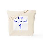 1st Birthday Tote Bag