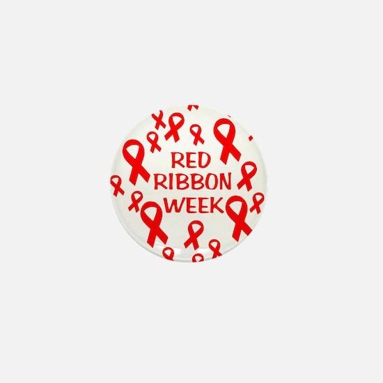 Red Ribbon Week Mini Button