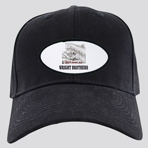 wright brothers kitty hawk Black Cap with Patch