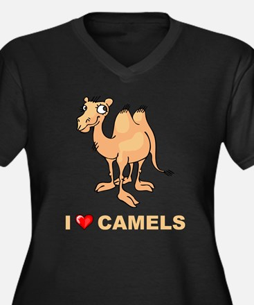 I Love Camels Women's Plus Size V-Neck Dark T-Shir