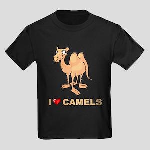 I Love Camels Kids Dark T-Shirt