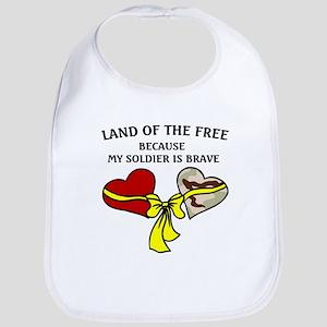 Land of the Free 2 hearts Bib