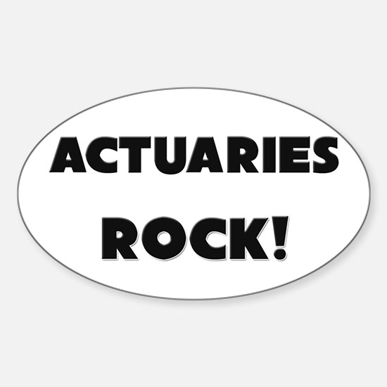 Actuaries ROCK Oval Decal