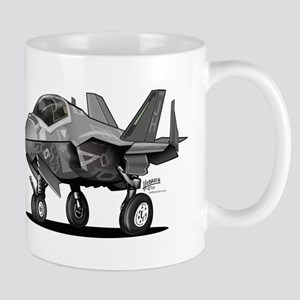 Naval Military Jet Fighter Aircraft Cartoon Mugs