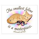 """DaVinci """"Smallest Feline"""" Small Poster"""