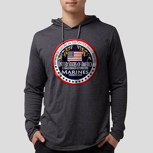 Marine Corps Mom Mens Hooded Shirt