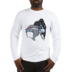 Cyborg Wolf Long Sleeve T-Shirt