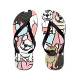Bulldog for kids Flip Flops