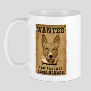 """""""Wanted"""" Basenji Mug"""