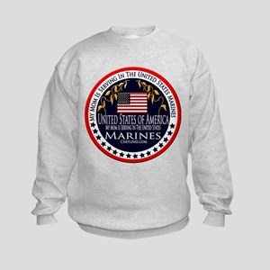 Marine Corps Mom Kids Sweatshirt