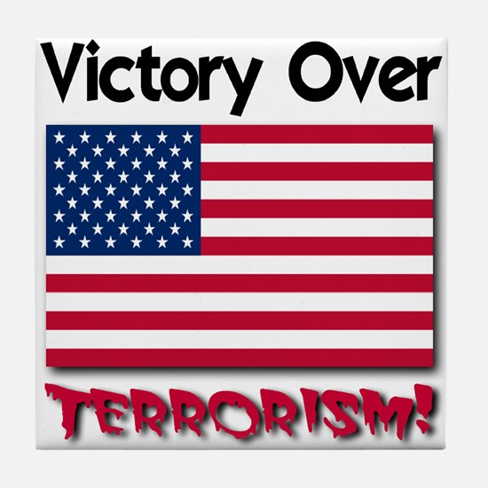 Victory Over Terrorism Old Glory Edition Tile Coas