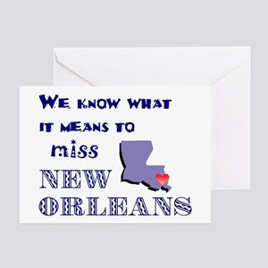 I Miss New Orleans Greeting Cards (Pk of 10)