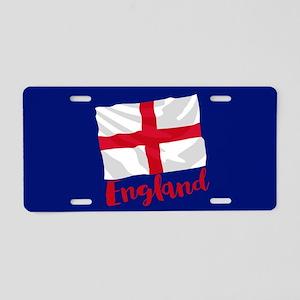 England English Flag Aluminum License Plate