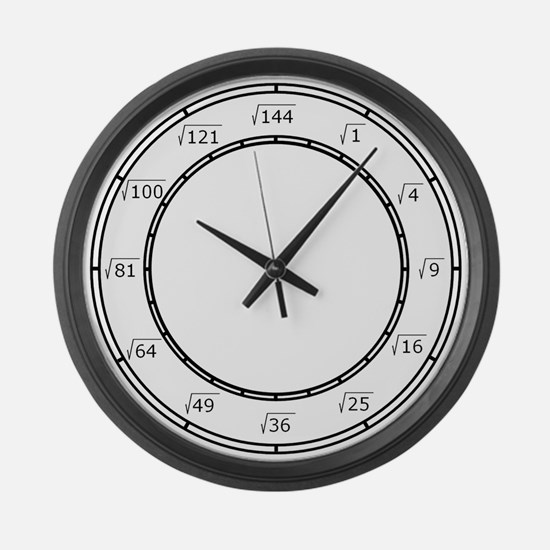 Large Square Root Wall Clock
